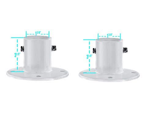 Aluminum Slide Deck Flange w/Flange Bolt for Inground Swimming Pools 2 Pack (Deck Anchor Flange)