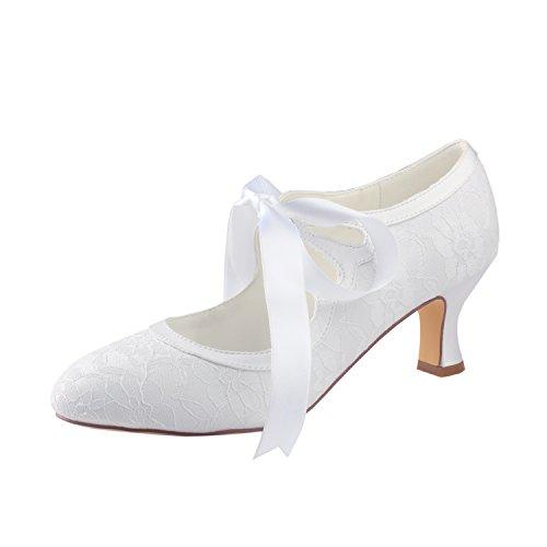 Zapatos de Bridal Bombas Emily Tac Nupciales vOFBqFwIx5