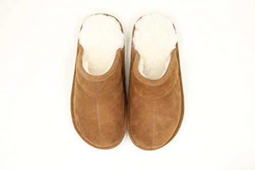 Pantofole Da Zoccolo Da Uomo Superlamb Con Suola Rigida