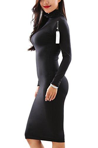 YMING dijo tienen vestido blanco oscilación del estilo de Hepburn de la vendimia más el tamaño Black