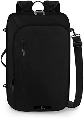 Ascentials Pro Meta, Water Resistant, Business Travel Backpack, 15 Laptop Messenger for Men