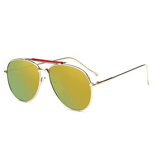 de los Estados Europa brillantes gafas C de sol hombres Gafas metal Unidos moda de sol de tendencia de gafas de sol y Aoligei color UqSR1Ygxwx