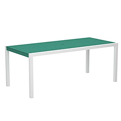 Amazon.com: Mod Dining Table Top Color: Aruba, Frame Finish ...