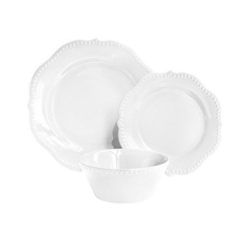American Atelier 6933-12-WM Scallop Dinnerware Set, 11