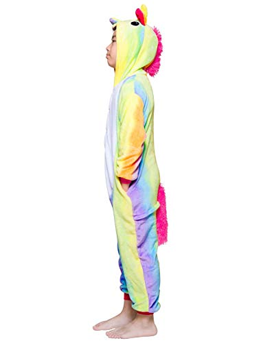 Rainbow Unicorn Onesie Pajamas Cosplay Costume for Kids 3t 4t 5t]()