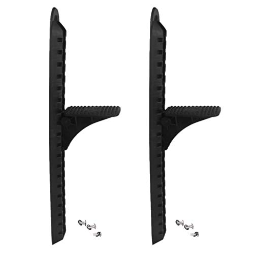 shnegwei 2 Pieces Durable Nylon Foot Bracket Kayaking Foot Support Pedal Fishing Boat Canoe Foot Nail Replacement Parts.