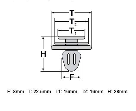 10x T/ürverkleidung befestigung clips f/ür 6Q0868243