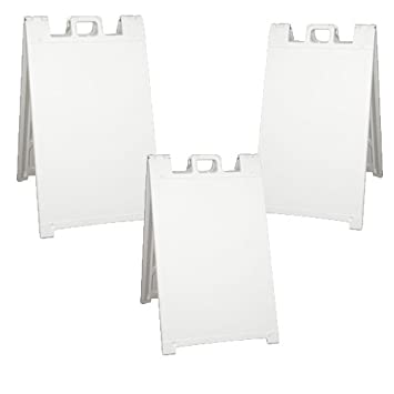 Plasticade Signicade Sign Frame - Pack of 3 Black Sign Frames (White ...