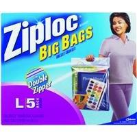 Ziploc Big Bags  Large  5 Count