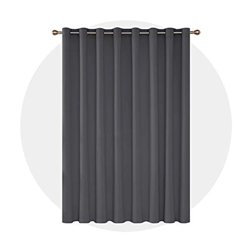 Deconovo Blackout Curtains 1 Panel Wide Width Curtain Room Darkening Shades Thermal Insulared Blinds...