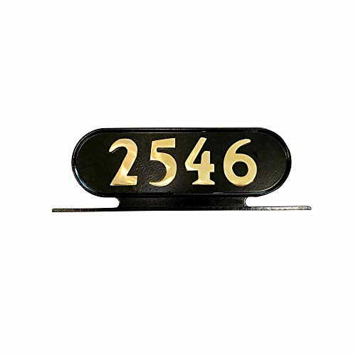 Addresses of Distinction Williamsburg Style 8 Address Plate - Plaque for House Numbers - Rust Proof Aluminum Mailbox Topper - Mounting Hardware Included (Solid Brass Numbers)