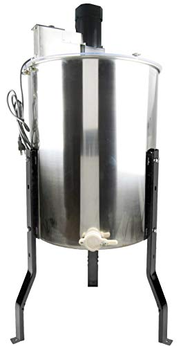 VIVO Electric 4 Frame Stainless Steel Honey Extractor | Honeycomb Drum Spinner (BEE-V004E)