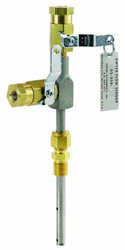 Dwyer DS-300 Series In-Line Flow Sensor, 2'' Probe Length by Dwyer