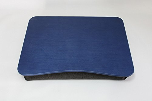 Wood Laptop Stand / Breakfast Tray / Wooden Laptop Bed Tray / Serving Tray / iPad Table / Pillow Tray ''Basic Blue''