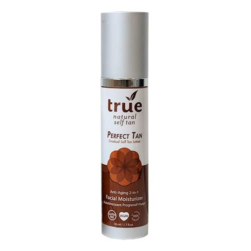 True Natural Perfect Tan Face Self Tanner & Moisturizer 2-in-1, 1.7 Ounce