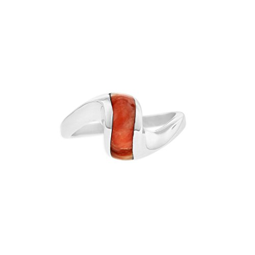 Used, Kabana Sterling Silver Red Spiny Oyster Curved Ring for sale  Delivered anywhere in USA