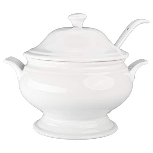 Large Tureen - BIA Cordon Bleu 900188WGS1SIOC Serveware Tureen Serving Set, One Size, White