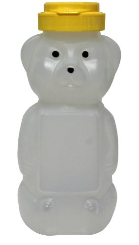 Mann Lake CN535 24-Pack Opaque Plastic Panel Bear with Yellow Flip Tops, - Opaque Panels