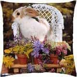 Pretty Rabbit - Throw Pillow Cover Case (18
