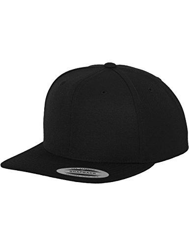 Flexfit Unisex Mütze Classic Snapback, Black, One size, 6089M