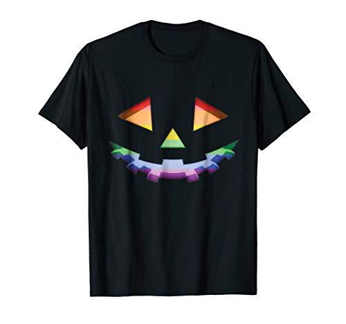Mens Gay LGBT Pride Pumpkin Halloween Costume T Shirt Medium Black