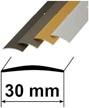 Ausgleichprofil 10x40mm, Champagne Aluminium Schutzleiste L/änge 90cm verschiedene Ausf/ührungen T/ürschwelle /Übergangsprofil /Übergangsschiene mit Befestigungsmaterial