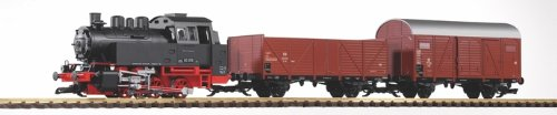 PIKO G SCALE MODEL TRAINS - DB BR80 FREIGHT STARTER SET WITH ANALOG SOUND (120V) - 38120