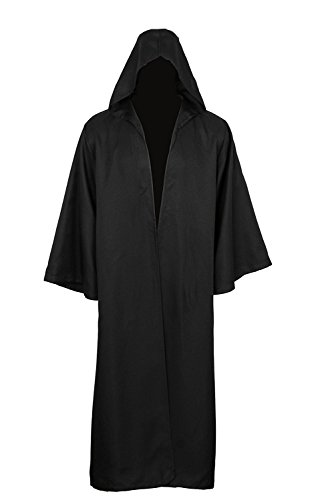 Adult Halloween Costume Tunic Hoodies Robe Cosplay Capes,Medium,Black ()