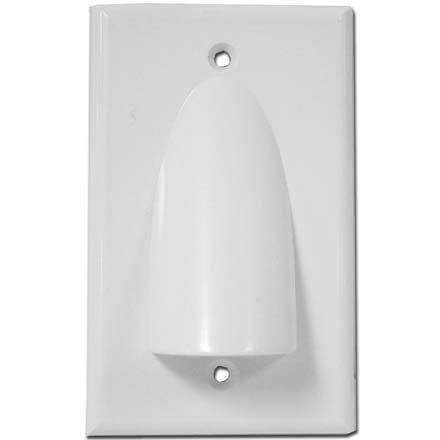 Series Wall Plate - Skywalker Signature Series Single Gang Bundled Cable Wall Plate, White