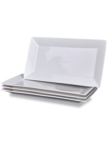 - Klikel 4 Serving Platters | Classic White Plate | Serving Trays For Parties | Microwave And Dishwasher Safe - 5.5 X 10
