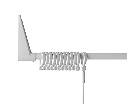 Wall Mounted for Corners or Bathtubs Erica White Angled Shower Rail 70x90 // 70x160 cm 100/% Rust Proof Mounts without Ceiling Support White PVC Coating