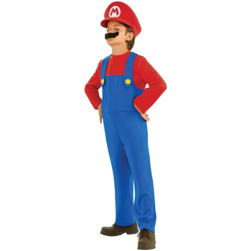 Fancy Dress Costume Ideas Cartoon Characters (Super Mario Brothers, Mario Costume, Medium)