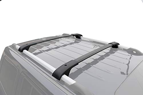 Rail Crossbars Roof (BRIGHTLINES Roof Rack Crossbars Replacement for 2018 2019 Volkswagen Tiguan)