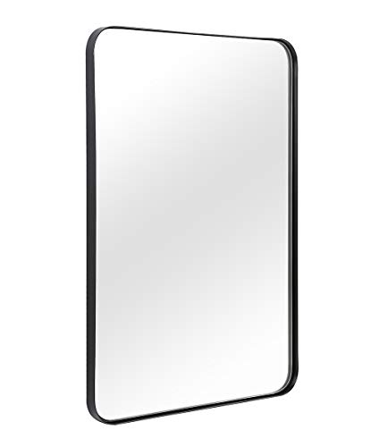 Wall Mirror for Bathroom, Mirror for Wall with Black Brushed Metal Frame 22