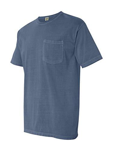 Comfort Colors Men's Adult Short Sleeve Pocket Tee, Style 6030, Blue Jean, 3X-Large ()