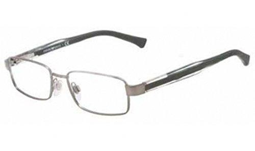 Emporio Armani Eyeglasses EA1002 3003 Matte Gunmetal Demo Lens 51 16 - Glasses Prescription Frames Armani