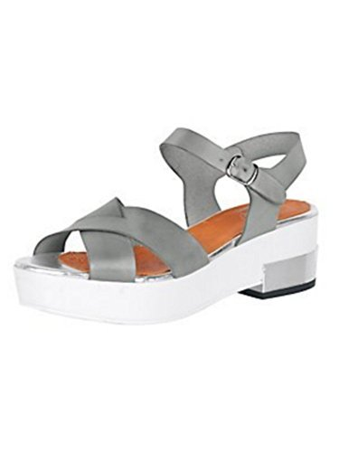 High-heeled sandals Ladies Nappa Leather from Best Connections Grey