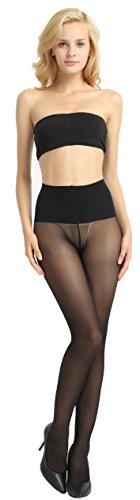 Alice & Belle Women 40 Den Pantyhose, Soft Tights with Sheer Toe (Medium, Black)