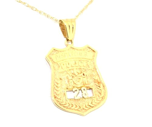 - 14K Yellow Gold Police Badge Charm