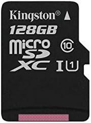 Kingston SDC10G2/128GBSP - Tarjeta microSD de 128GB (Clase 10 UHS-I 45MB/s) Tarjeta Sola