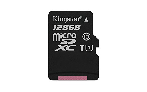 Kingston Digital 128GB microSDXC Class 10 UHS-I 45R Flash Card (SDC10G2/128GBSP) by Kingston