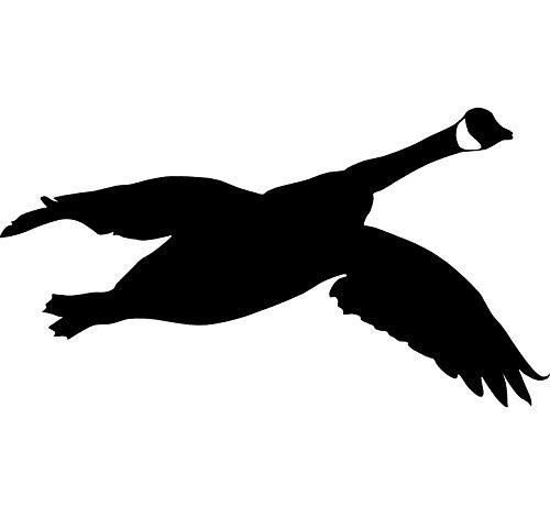 Goose Silhouette Waterfowl Hunting Decal Sticker Goose Silhouette Decoy Bag 2018 by Waterfowldecals (Medium, Black)