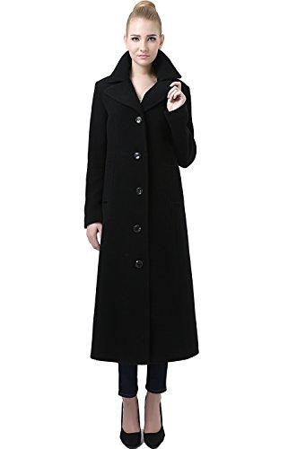 BGSD Women's Jeanette Long Wool Blend Maxi Walking Coat – S Black