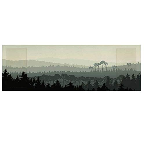 Apartment Decor Dustproof Electric Oven Cover,The Panorama of a Valley and a Mystic Forest of Pine Trees Cover for Kitchen,36