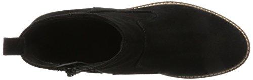 Chelsea 10 Noir Black Bianco Wildleder Femme Boots 6wRfc5qY