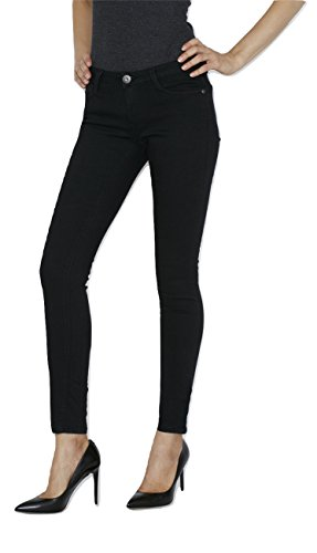Denim Extra Long Jeans - Jordachse Women's Extra Stretch Black Jeans - Denim Leggings, Skinny Slim Fit – Size 9