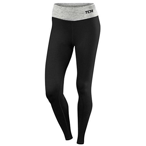 Women's TCA Pro Performance Supreme Running Tights / Leggings - Black/Marl Grey XL