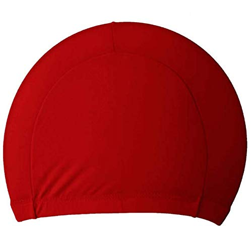 CosyInSofa 2 Pack Swim Cap Cover Ears, Women Silicone Swimming Cap Unique Tail Design for Long Hair, Curly Hair, Dreadlocks Weaves, with Ear Plug and Nose Clip (Crimson)