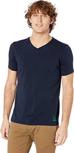 Scotch & Soda Men's Classic Solid Cotton/Jersey V-Neck Tee Night - And Scotch Soda