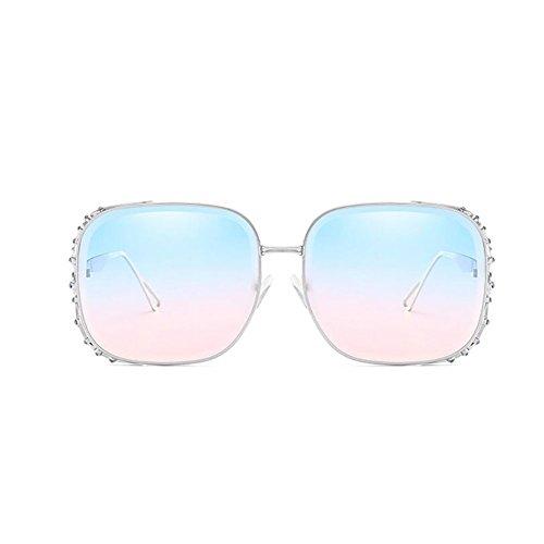 Gafas Metal De Personalidad UV400 De Brown Gafas De GAOJUAN Sol La Moda Las Resistencia De De Piece Gafas Sol Blue Mujeres De Sol Ocean Punk UV Gafas Wayfarer Sol De WcPUfv